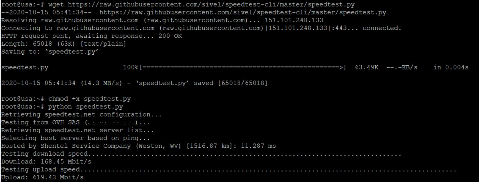 run speedtest on linux