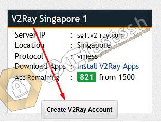 V2Ray Singapore FastSSH