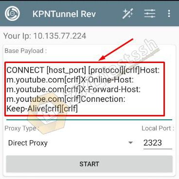 Create a KPNTunnel .ktr config file