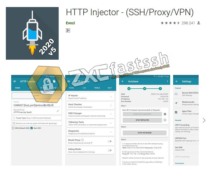 How to Input SSH Account to HTTP Injector