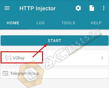 Connect V2Ray on HTTP Injector