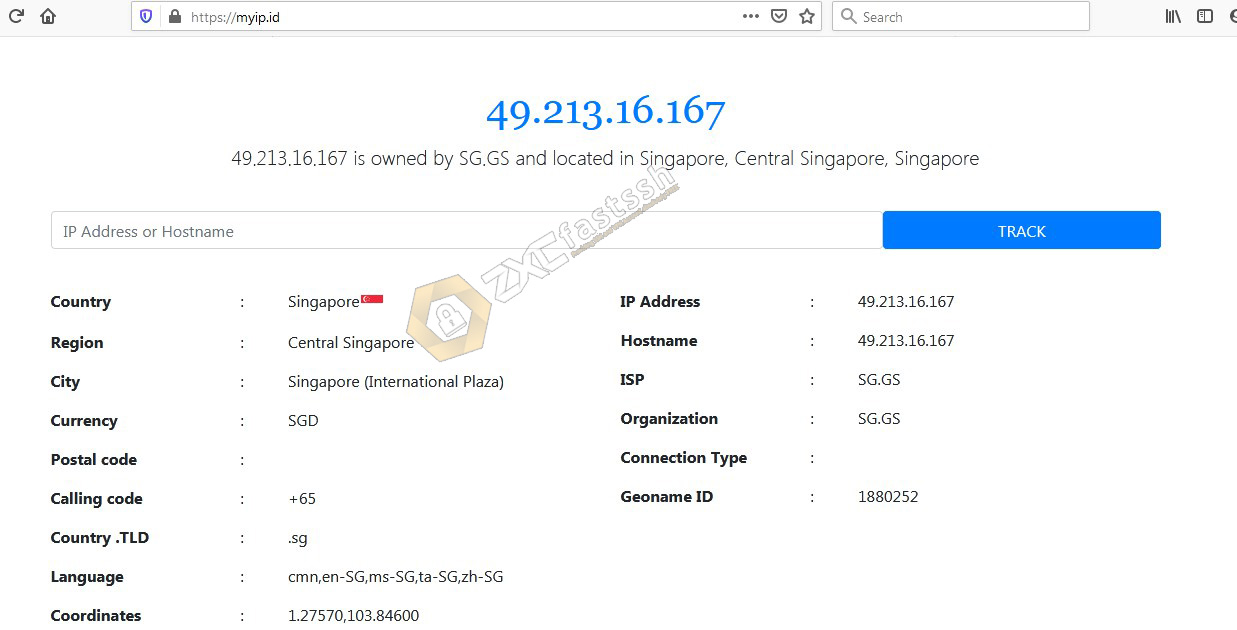 check the IP address