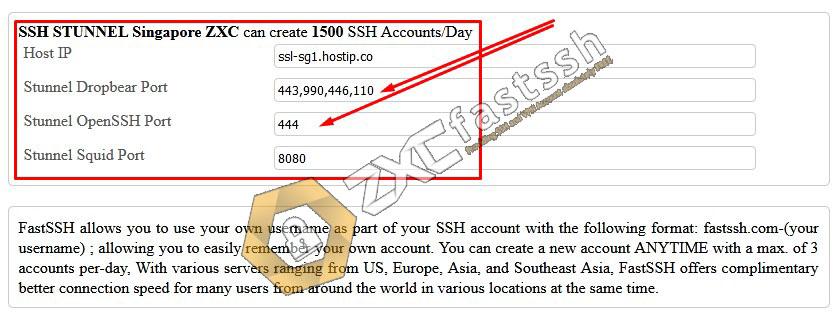 Create Free SSL (Stunnel) Account