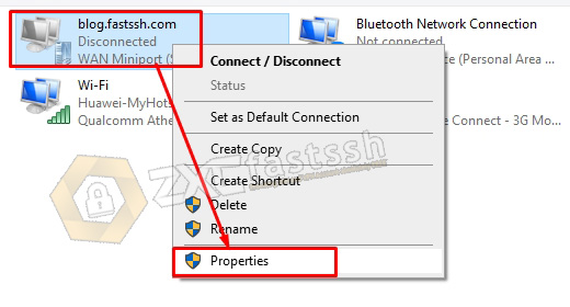 SSTP VPN Settings in Windows