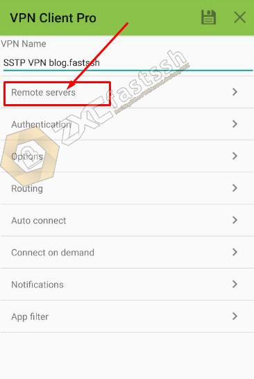 Setting VPN Client Pro