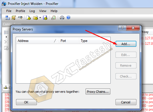 Setting Proxifier Application