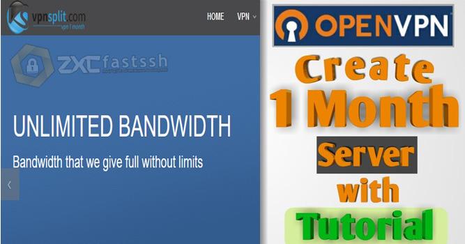 How to Create 1 Month Free Premium OpenVPN Account