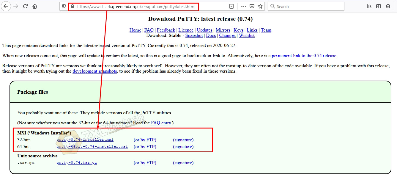 Download PuTTY