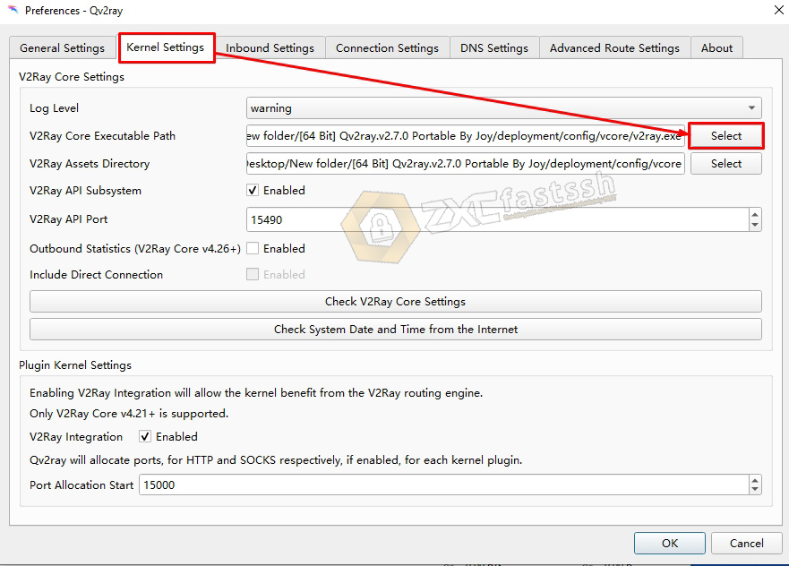 Setting V2Ray on PC Windows