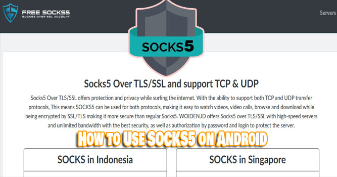 How to Use SOCKS5 on Android