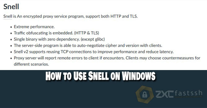 How to Use Snell on Windows for Free Internet