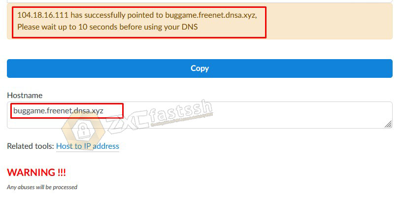 How to Create a DNS (Converting IP Address to Sub Domain)