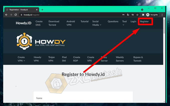 How to Register on Howdy.id Site